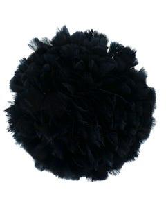 Parried Turkey Ruff Feathers -  1/2YD - Black