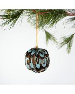 blue pheasant venery feather ornament