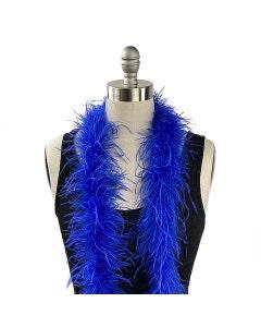 Royal blue ostrich feather boa