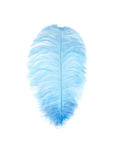 """1 PC Ostrich Feather Drabs Dyed 17""""- Sky"""