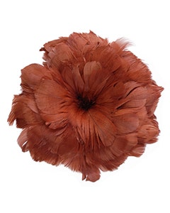 Goose Coquille Feathers Dyed - Copper