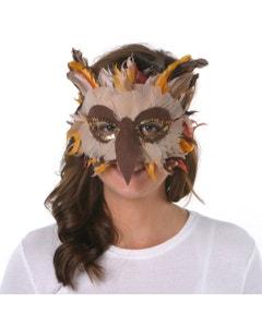 HALLOWEEN FEATHER OWL MASK
