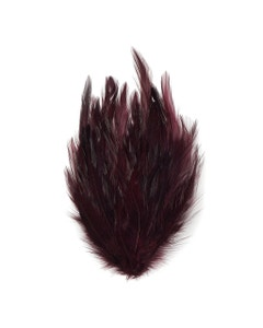 Feather Hackle Pads Dyed - Burgundy