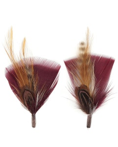 Pheasant-Turkey-Hackle Feather Hat Trims