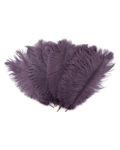 Ostrich Feather Drabs - 1/4 pound (approx. 60 pieces) 13 -16 inch - Amethyst