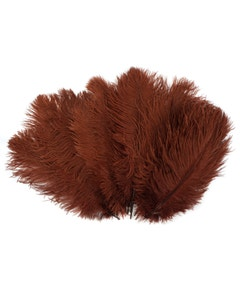 Ostrich Feather Drabs - 1/4 pound (approx. 60 pieces) 13 -16 inch - Copper