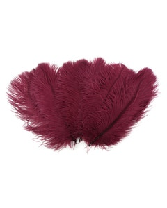 Ostrich Feather Drabs - 1/4 pound (approx. 60 pieces) 13 - 16 inch - Burgundy