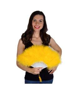 Marabou Feather Fan - Gold