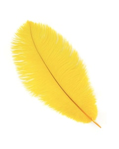 Ostrich Feather Drabs - 12 pieces 13-16 inch - Gold