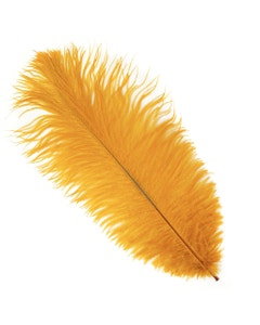 Ostrich Feather Drabs - 12 pieces 13-16 inch - Marigold