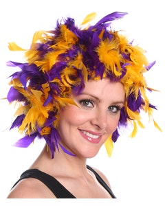 Louisiana State Tigers Feather Wig