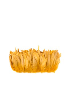 Rooster Coque Tail Feathers Bleach and Dyed - Gold