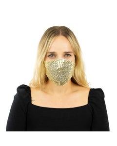 Gold Sequin Reusable Face Mask