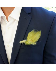 duck feather boutonniere