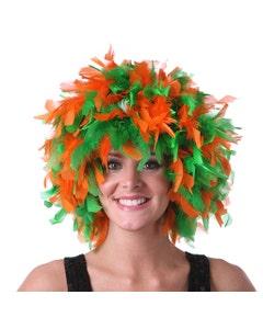 University of Miami Feather Wig