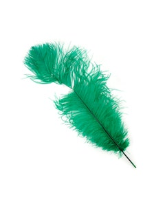 Ostrich Feathers-Damaged Drabs - Emerald