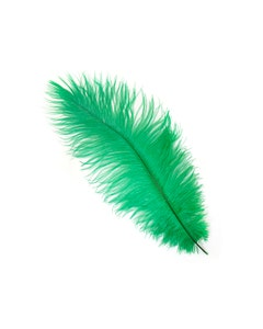 Ostrich Feathers-Narrow Drabs - Emerald