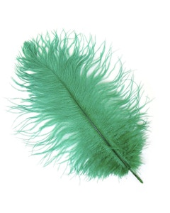 Ostrich Feather Drabs - 12 pieces 13-16 inch - Emerald