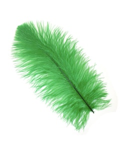 Ostrich Feather Drabs - 12 pieces 13-16 inch - Kelly