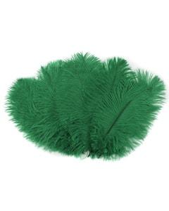 "Bulk Feather Ostrich Drabs - 4-8"" 1/4 lb Emerald"