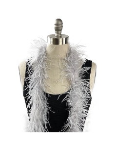 Value Two-Ply Ostrich Feather Boa - Silver
