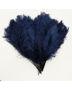 Ostrich Tails 16-18 inch  - 30 PC - Navy