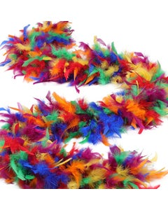 Rainbow Chandelle Feather Boa