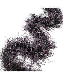 Ostrich Feather Boa Stenciled Black - Raspberry Sorbet