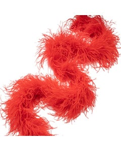 Ostrich Boas Solid Colors Red