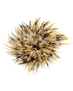 """Badger Rooster Saddle Feathers Strung - 1 Yard 4-6"""" Rooster Feathers - Natural"""