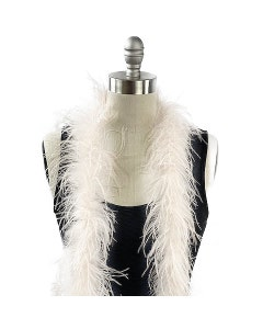 Ivory Ostrich Feather Boa