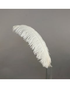 """1 PC PKG Ostrich Feathers Drabs Dyed 17"""" - Ivory"""