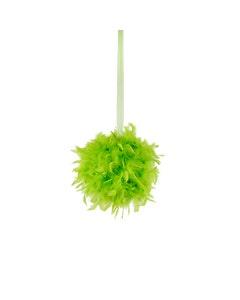 "Chandelle Feather Pom Poms - Lime - 12"""