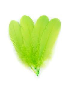Bulk Goose Pallet Feathers 6-8 Inch - 1/4 LB - Lime