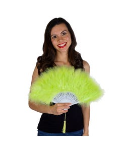 Marabou Feather Fan - Lime