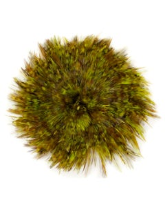Rooster Saddle-Red Chinchilla 1YD - Chartreuse