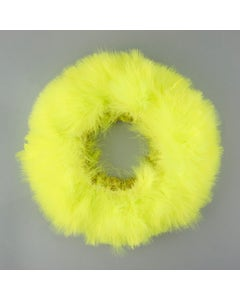 """STRUNG TURKEY MARABOU BLOOD QUILL FEATHERS - 3-4""""  FLUORESCENT CHARTREUSE"""