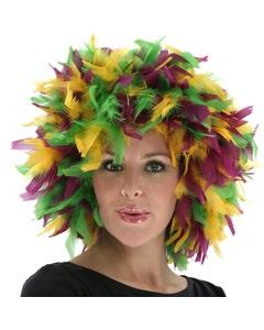 Mardi Gras Chandelle Feather Wig