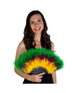 Marabou Feather Fan Multi Color