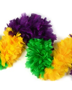 Turkey Feather Boas Sectional Colors - Mardigras Mix