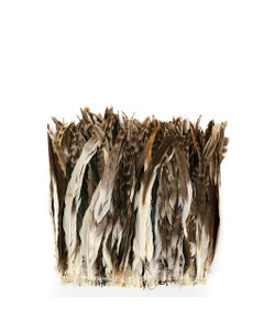 """Rooster Coque Tails Feathers Chinchilla Natural  11-14"""" [1/4 LB Bulk]"""