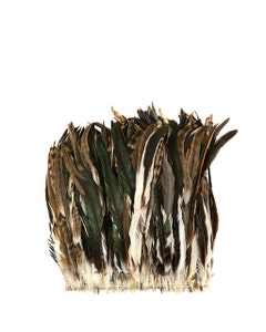 """Rooster Coque Tails Feathers Chinchilla Natural  13-16"""" [1/4 LB Bulk]"""