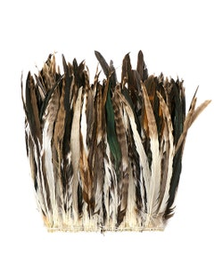 """Rooster Coque Tails Feathers Chinchilla Natural  15-18"""" [1/4 LB Bulk]"""