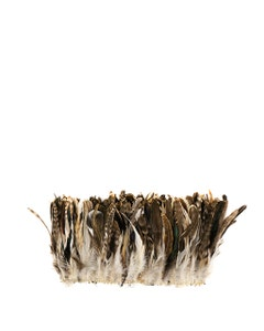 """Rooster Coque Tails Feathers Chinchilla Natural  5-8"""" [1/4 LB Bulk]"""