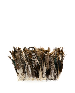 """Rooster Coque Tails Feathers Chinchilla Natural  7-10"""" [1/4 LB Bulk]"""