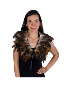 Natural Rooster Coque Feather Cape