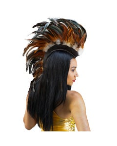 Natural Coque Feather Mohawk