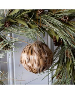 Natural Brown Duck Feather Ornament