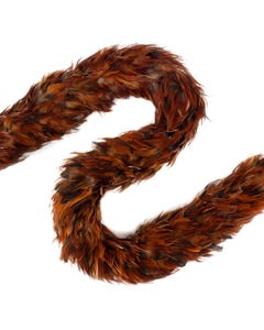 Furnace Rooster Saddle Feather Boas - Natural