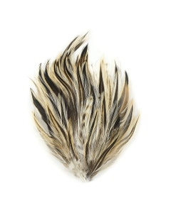 Badger Hackle Feather Pads - Natural